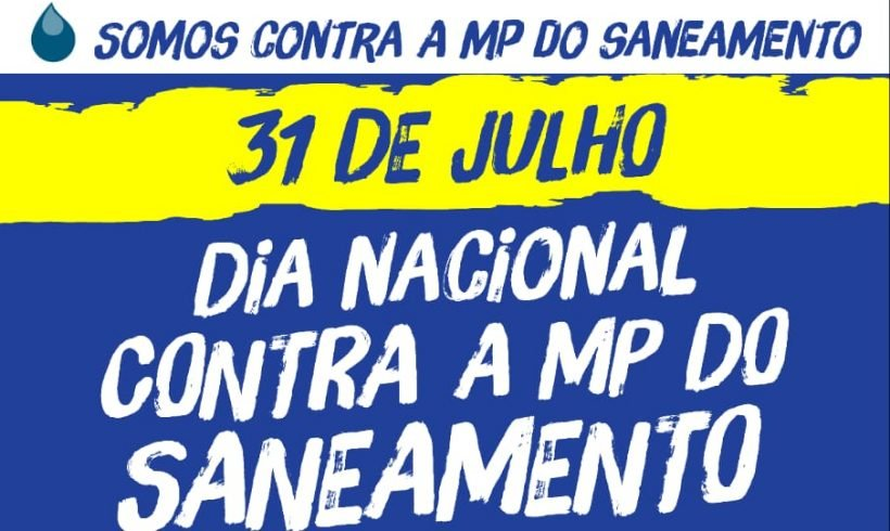 Dia Nacional contra a MP do Saneamento